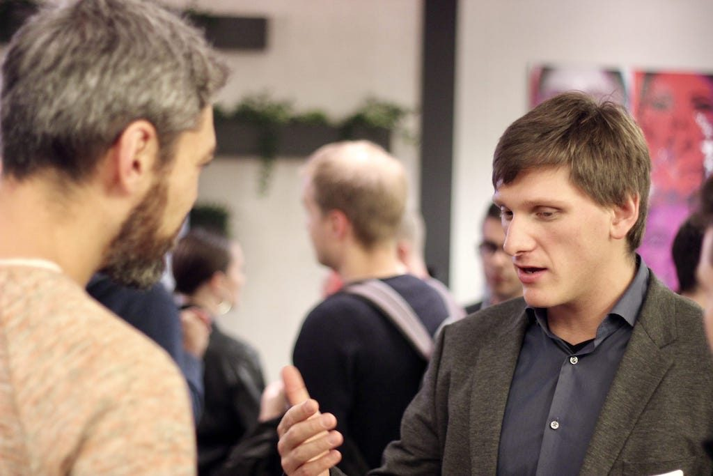 Kirill networking at Startup Drinks