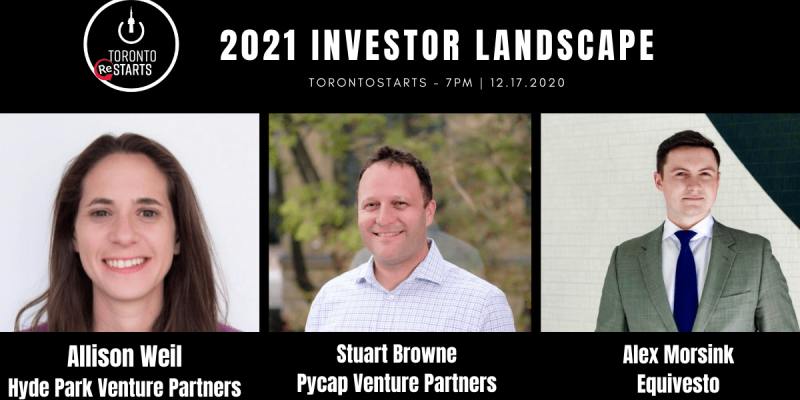 2021 Venture Capital and Startup Funding Landscape with TorontoStarts